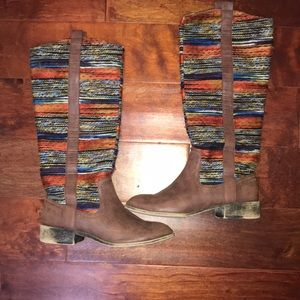 Western or boho style boots